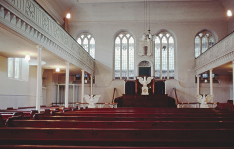 The Chapel with Pews still in situ